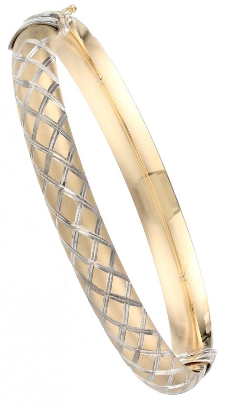 Bangle Bracelets Gold Gold Quilt Bangle Bracelet