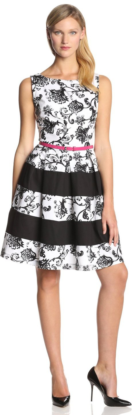 Tiana B Women S Floral Printed Color Block Dress Visuall Co