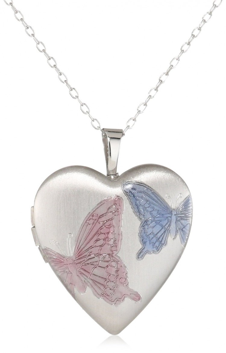 butterfly index friends set best locket necklace lockets silver bff tone