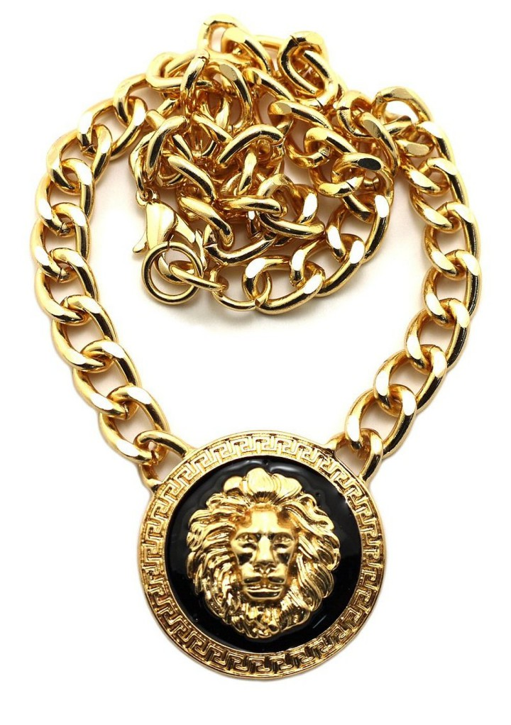 New Rihanna Gold Lion Head Pendant Visuall Co