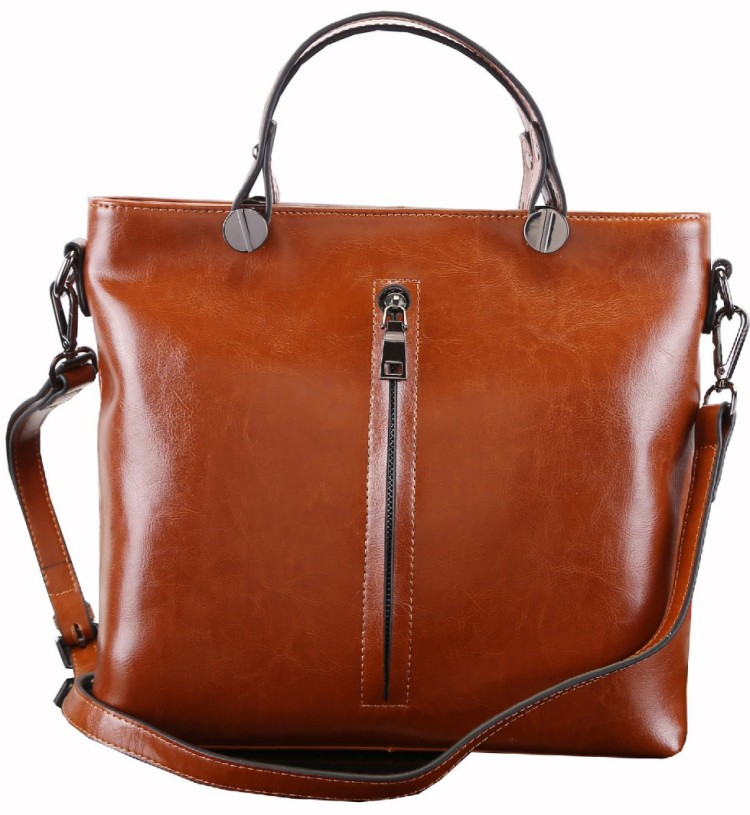 Heshe Fashion Women Genuine Leather Top-handle Tote Cross Body ...