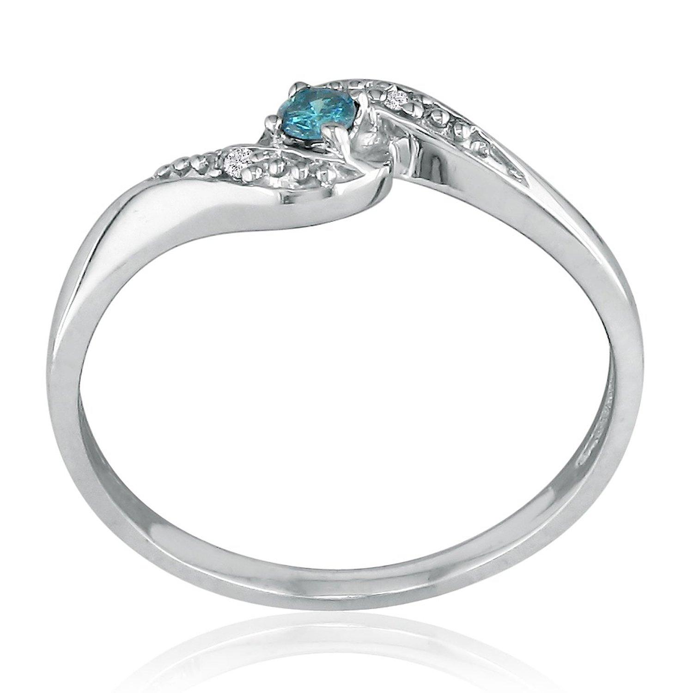 superjeweler 10k white gold blue promise ring