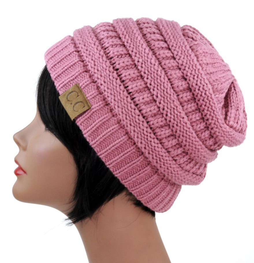 Trendy Warm Chunky Soft Stretch Cable Knit Slouchy Beanie Skully HAT20A - Vis...