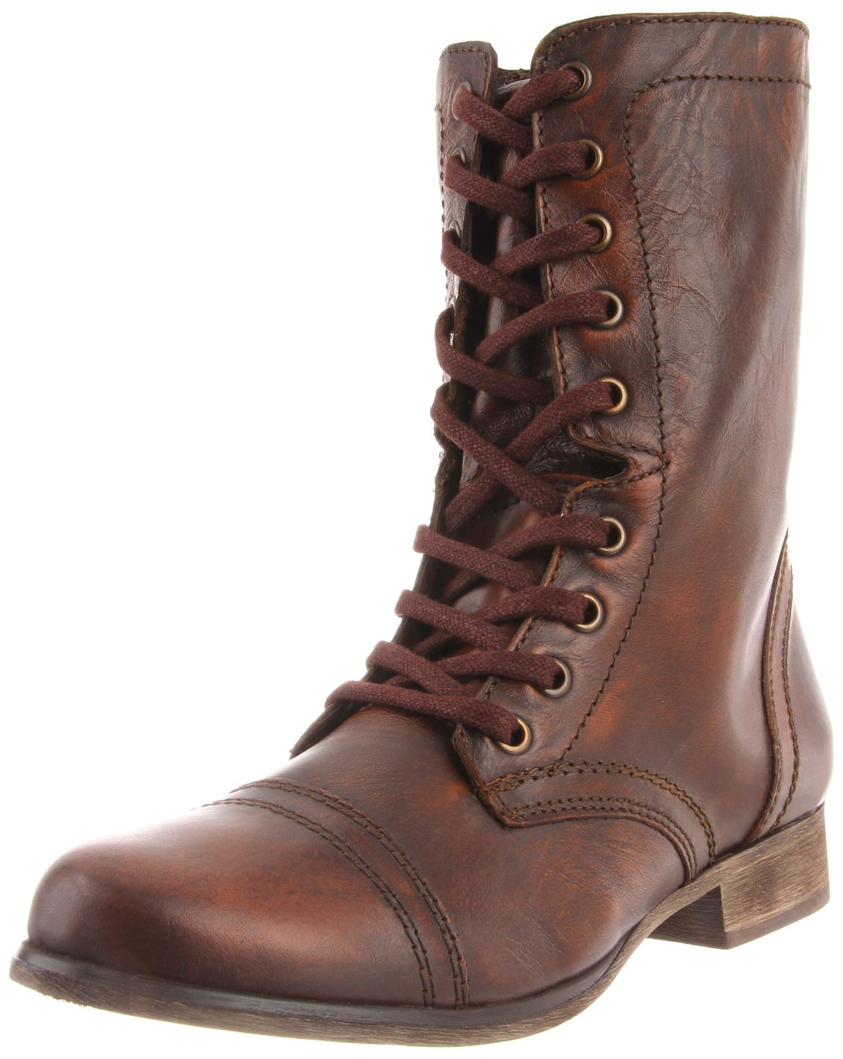 Perfect NEW LADIES WOMENS BROWN ARMY COMBAT MILITARY BOOTS HIGH ANKLE SHOES SZ 3-8 | EBay