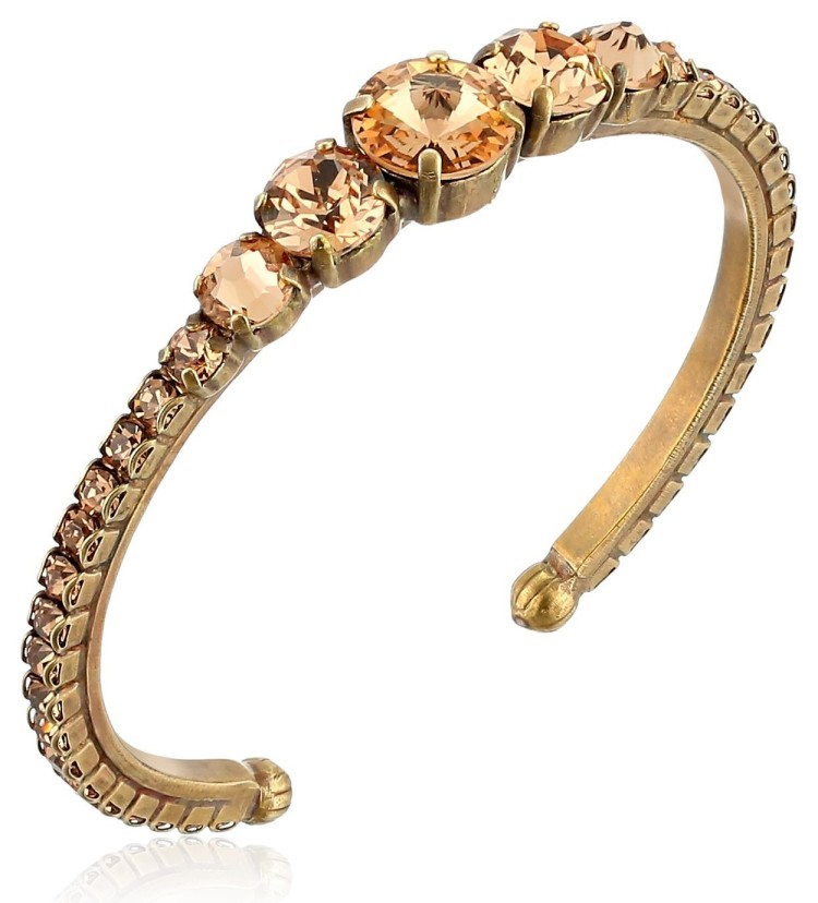 sorrelli delicate cluster cuff bracelet 2 25