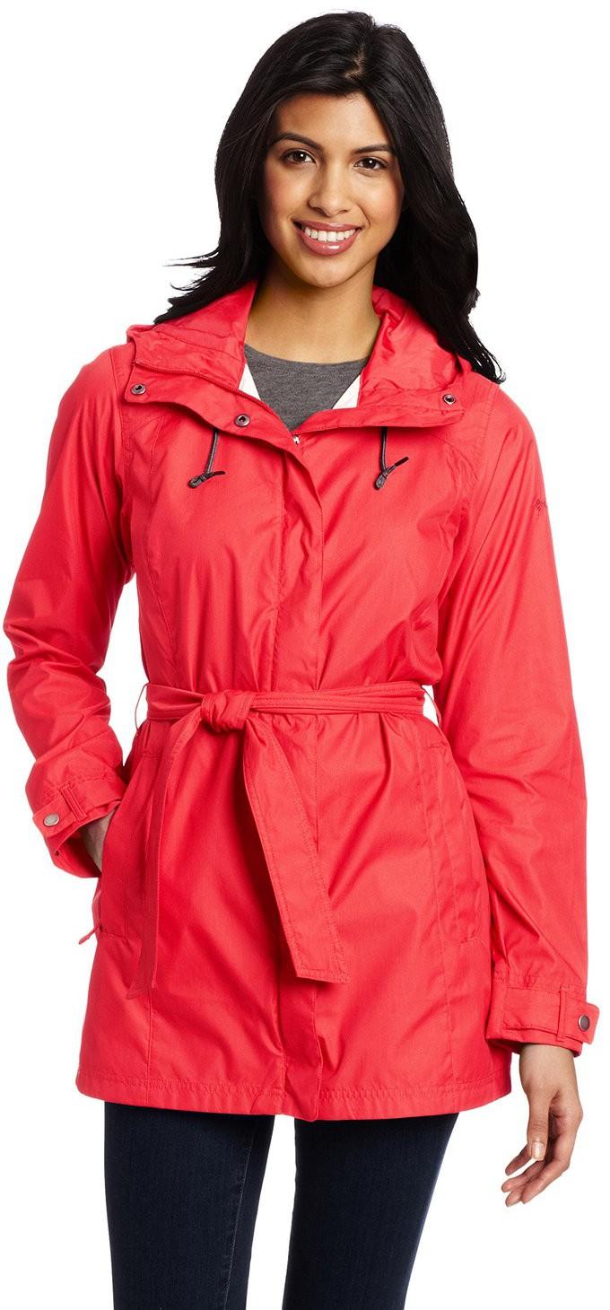 Women S Rain Trench Coat With Hood Tradingbasis
