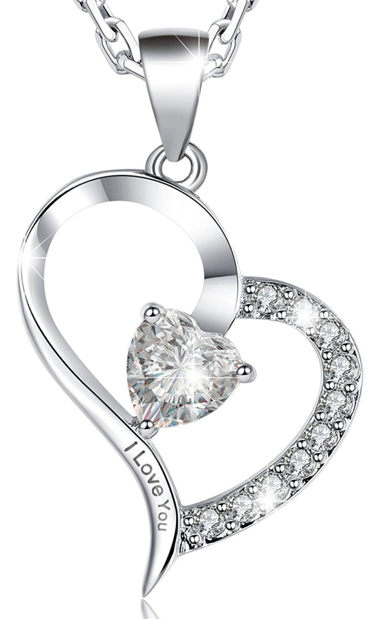 Marenja Valentines Day Gifts Womens White Gold Plated