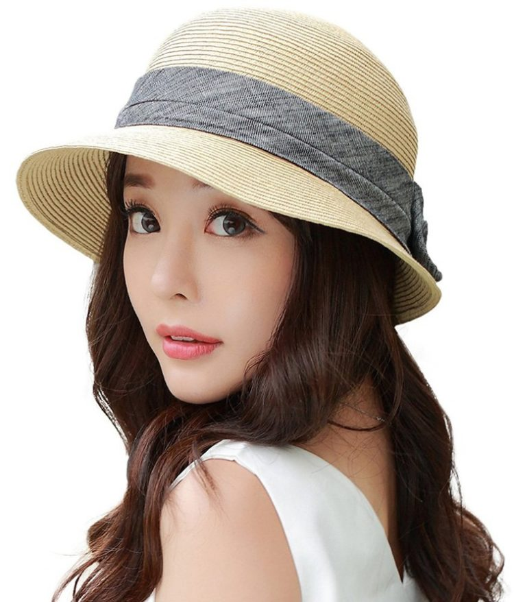 f9fef301585c4 SIGGI Womens UPF50 Foldable Summer Sun Beach Straw Wide Brim Hat -  Visuall.co